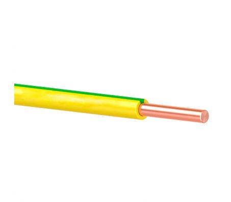 Провод ПуВ (ПВ1) жёлто-зелёный