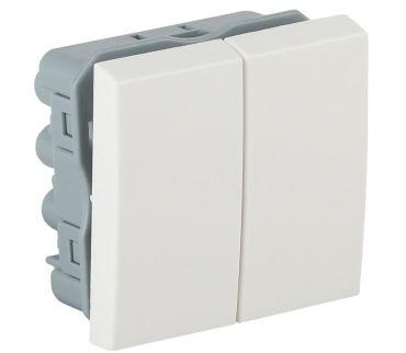 АДЛ 13-905 - выключатель модульный двухклавишный
