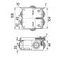 67050УП - Коробка распаячная КУП для о/п (6 вводов)