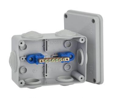 67051УП - Коробка распаячная КУП для о/п (6 вводов)