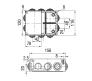 67053УП - Коробка распаячная КУП для о/п (10 вводов)