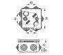 67040М - Коробка распаячная для о/п (7 вводов)