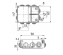 67055 - Коробка распаячная для о/п (10 вводов)