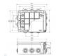 67068 - Коробка распаячная для о/п (без вводов)
