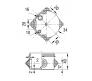 67010 - Коробка распаячная для о/п (4 ввода)
