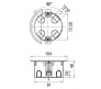 10174 - Коробка распаячная ГСК для скрытой проводки
