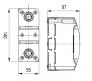 68302 - Щиток для открытой проводки на 2 модуля