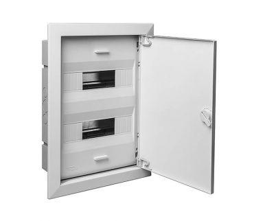 68124М - Шкаф для скрытой проводки на 24 модуля