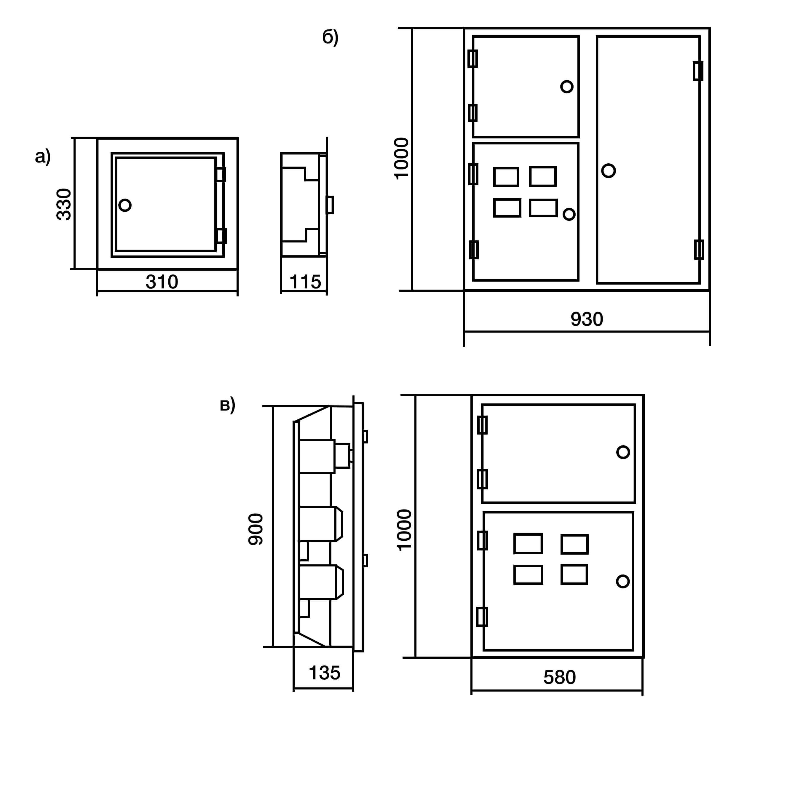 Общий вид этажных щитков ЩЭ-МР