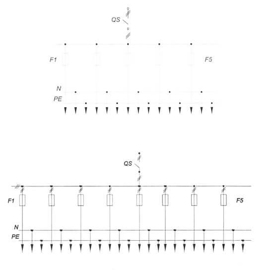 Принципиальные схемы шкафа распределительного силового серии ШР11-МР